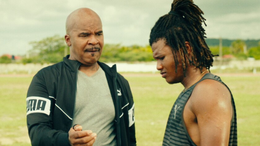 """(L-R)- Coach Miller and Akeem Sharp, played by David Alan Grier and Dale Elliott, in a scene from """"T"""