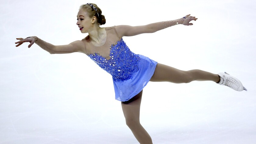 Bradie Tennell performs during the women's long program on Friday night at the U.S. figure skating championships.
