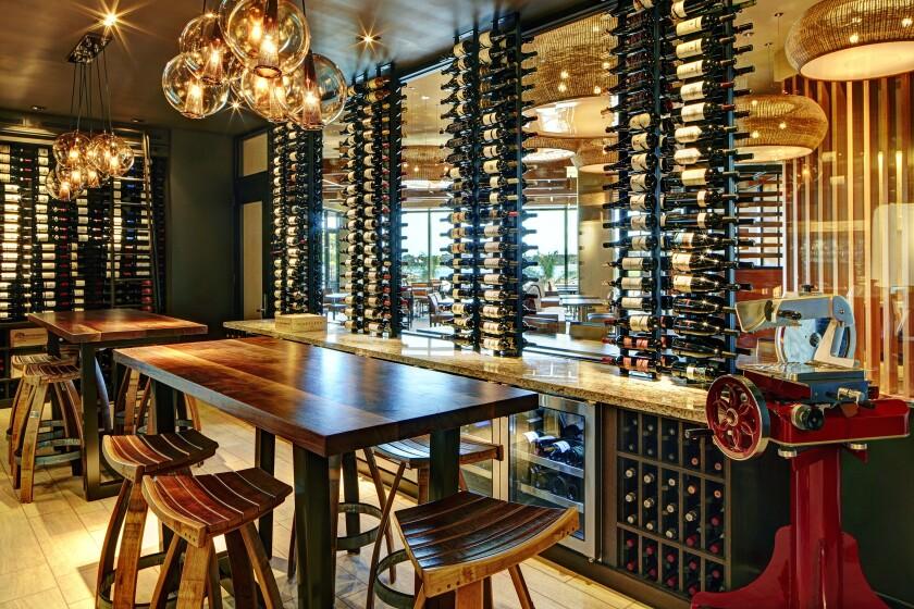 Marina Kitchen's intimate wine room.