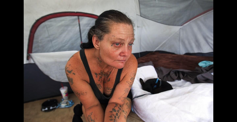 Homeless camp in Orange County
