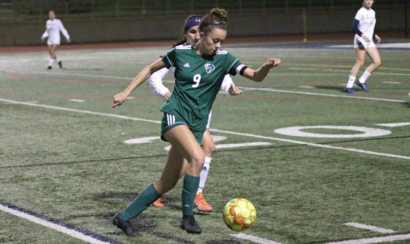 Senior Lizzy Teran is LCC's leading goal scorer