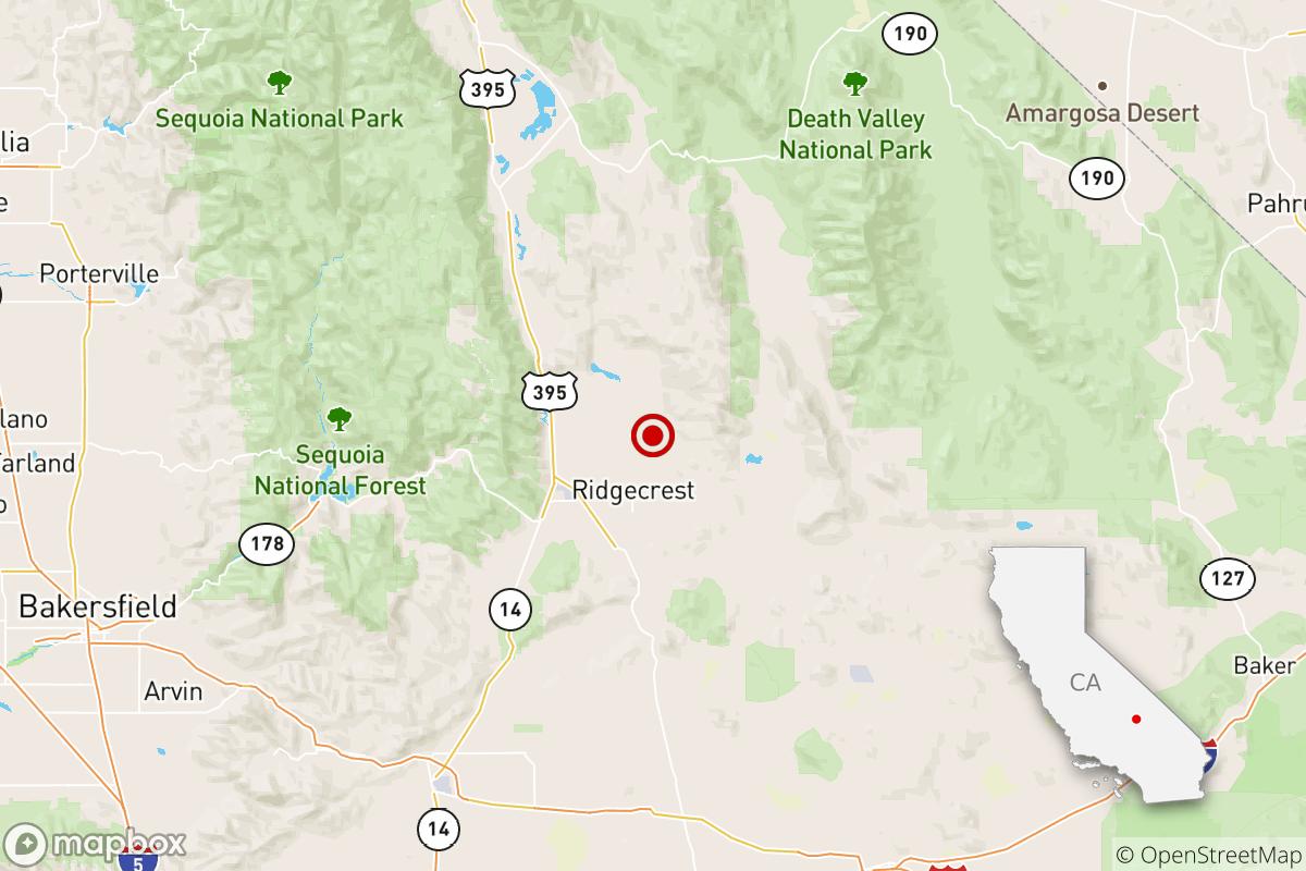 Earthquake: 3.0 quake shakes near Ridgecrest