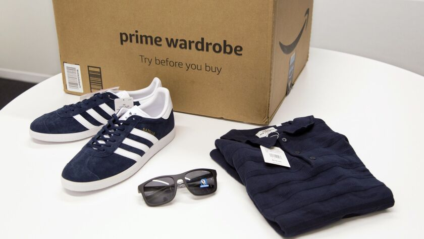 Items ordered through Prime Wardrobe are displayed.