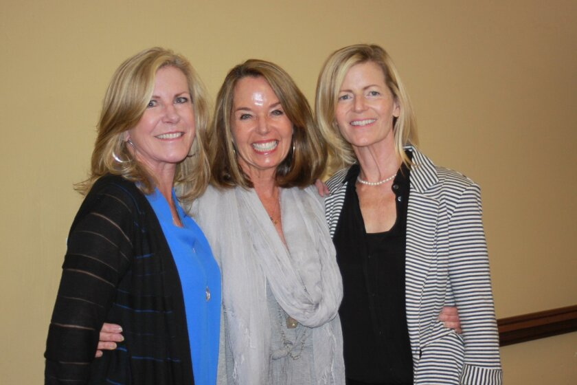 New Friends of La Jolla Library Board members: Sally Corson, Sallie Warren and Cathy East. Not pictured: Jennifer Greenfield.