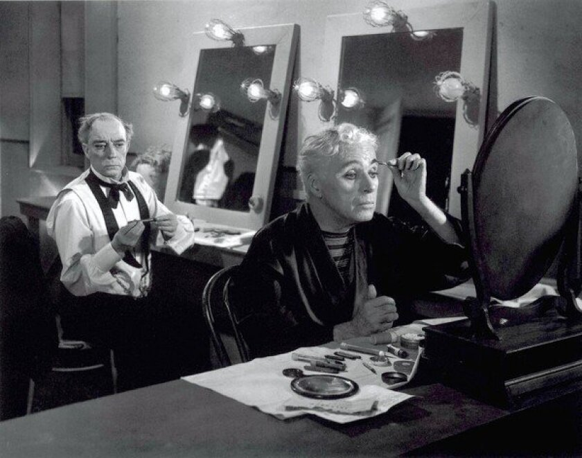 """Charlie Chaplin, right, and Buster Keaton in 1952's """"Limelight."""""""