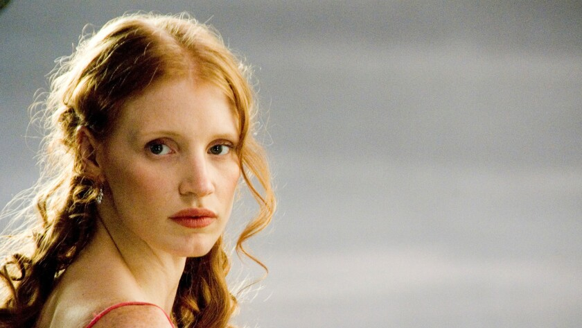 "Jessica Chastain as the title character in a scene from the film ""Salome."""