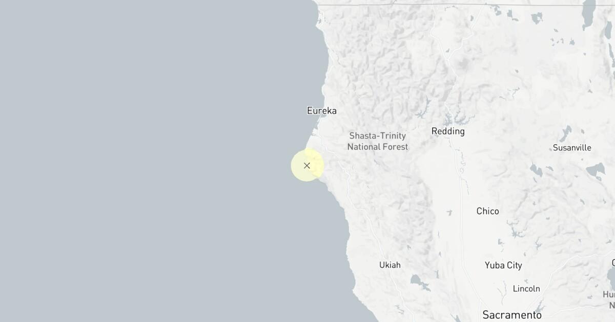 大3.8地震近いフォルトゥナ、カリフォルニア州.