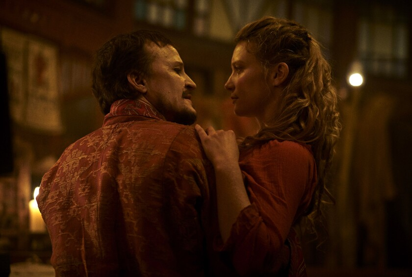 "Damon Herriman and Mia Wasikowska in ""Judy and Punch."""