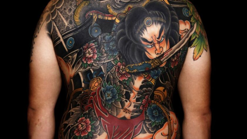 Ma Chao won first prize at Shanghai's tattoo exposition for this tattoo of a figure from ancient Chinese literature, Zhang Shun