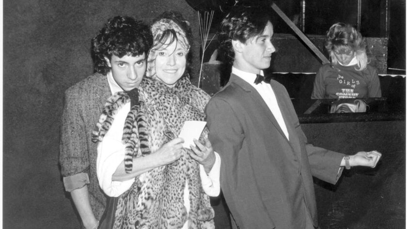 Mitzi Shore, owner of the Comedy Store on Sunset Boulevard in Hollywood with sons Peter, left, and Pauly, right in 1986.