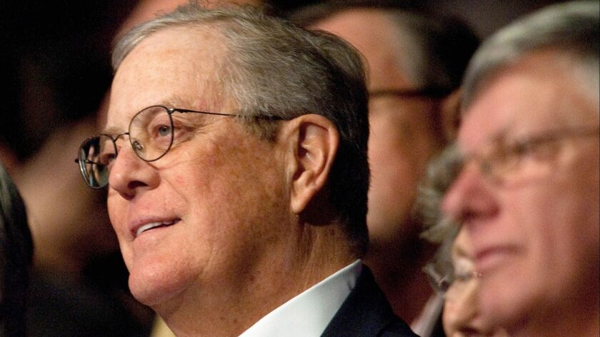 Letters to the Editor: The disgraceful smearing of David Koch's rich legacy