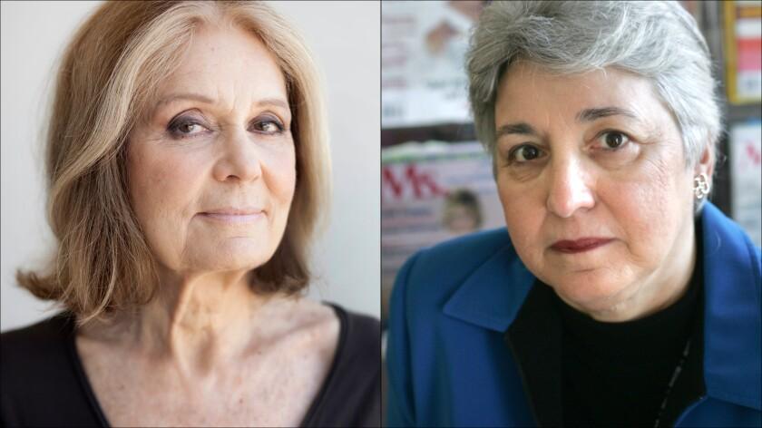 Gloria Steinem, left, and Eleanor Smeal