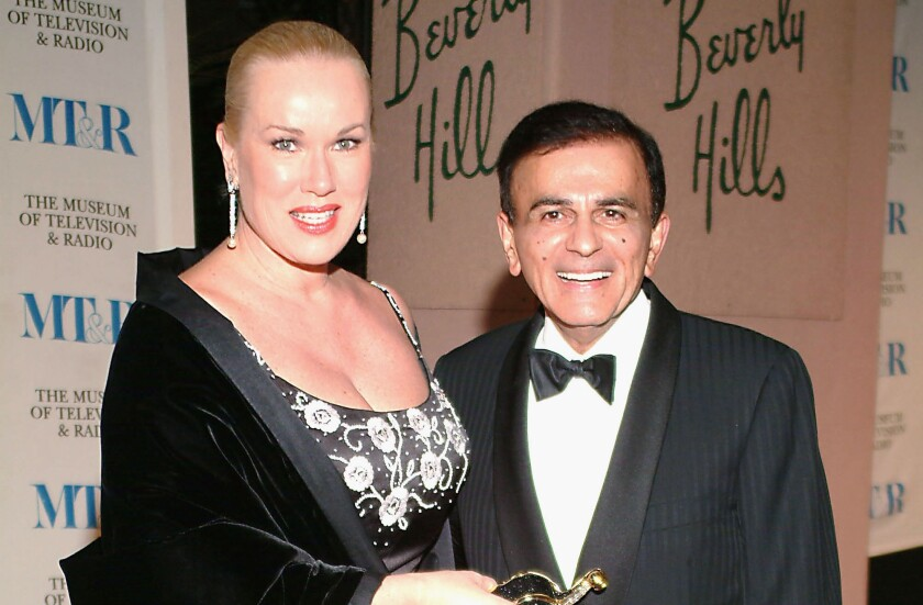 Jean Kasem and Casey Kasem in 2004. The Los Angeles County district attorney's office has declined to file elder abuse charges against Jean Kasem.