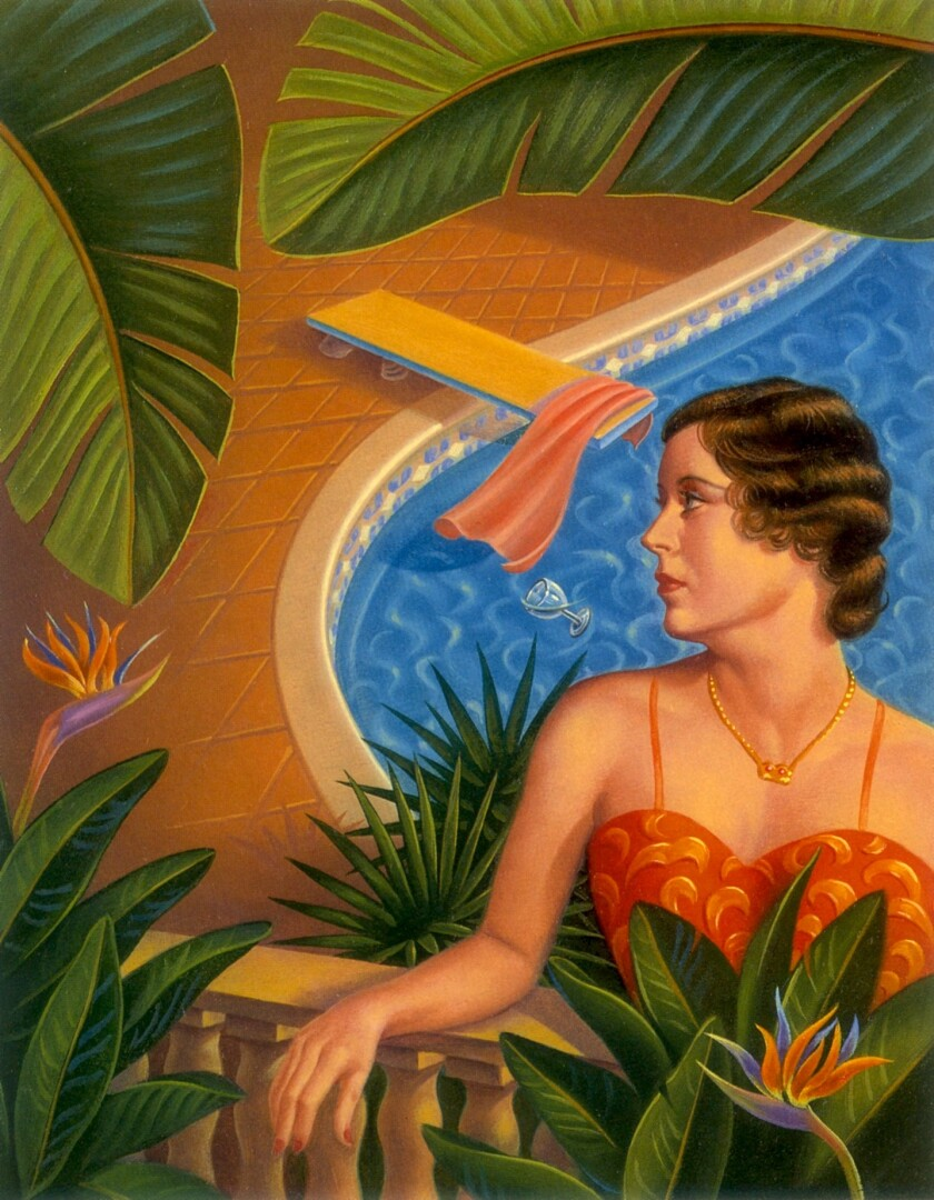 Ken Joudrey, Woman by Pool, 2016, Oil, 21x18 in.jpeg