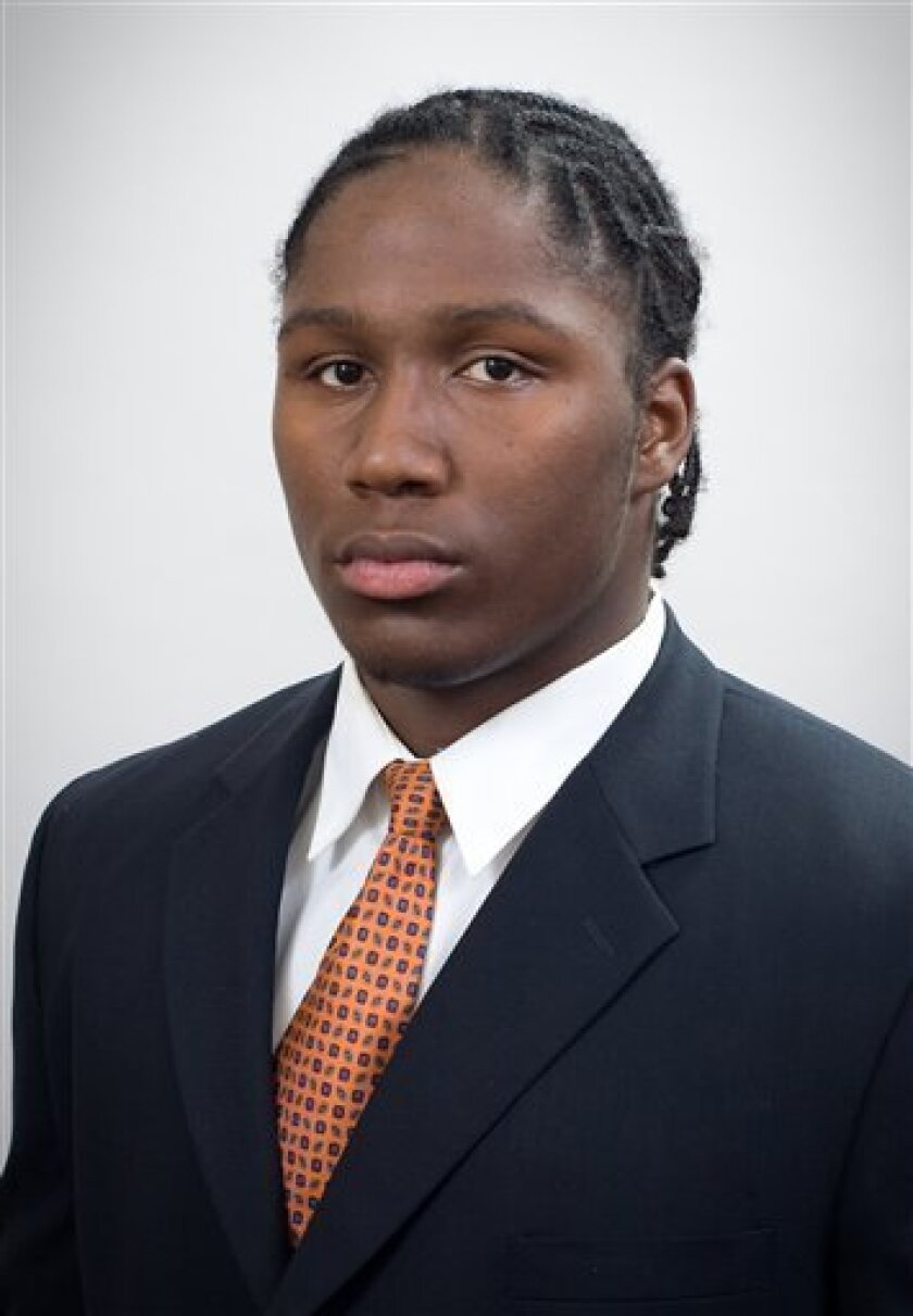 This 2008 photo provided by the University of Florida, shows Florida football player Carlos Dunlap. Top-ranked Florida could be without one of its best pass rushers against No. 2 Alabama in the Southeastern Conference championship game. Defensive end Carlos Dunlap was arrested early Tuesday, Dec. 1, 2009, and charged with driving under the influence, just days before the biggest game of Florida's season. (AP Photo//Univ. of Florida)