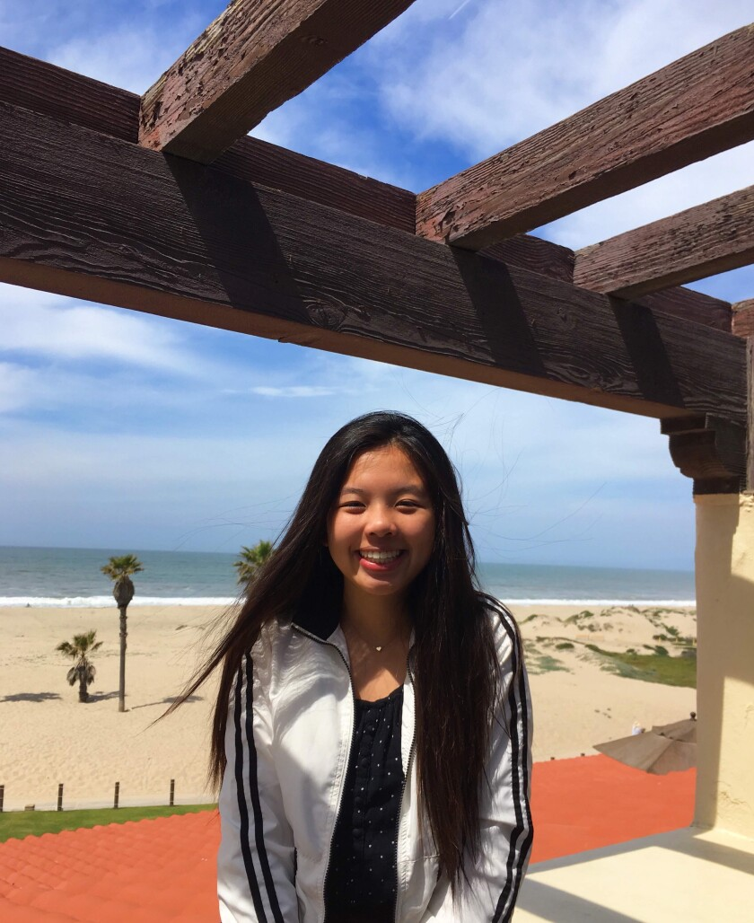 Olivia Yang was selected as a Bank of America Student Leader.