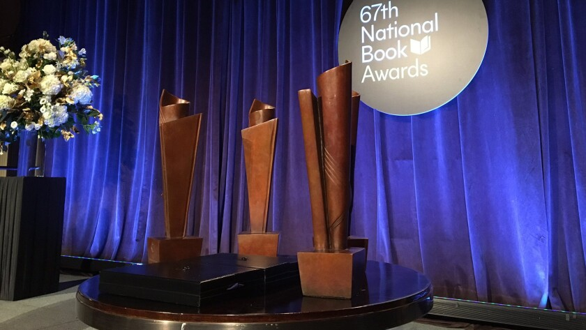 The awards given to winners at the 67th National Book Awards.