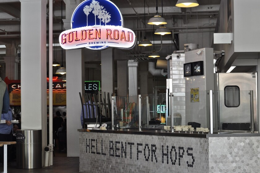 Golden Road Brewing's stall at Grand Central Market.