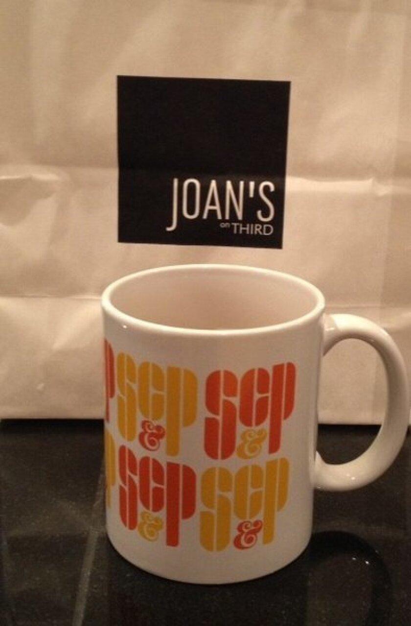 """Mad Men"" Sterling, Cooper & Partners mug at Joan's on Third"