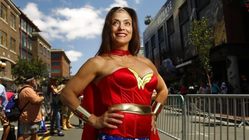 Andrea Kahn dressed as Wonder Woman at Comic-Con. (K.C. Alfred)