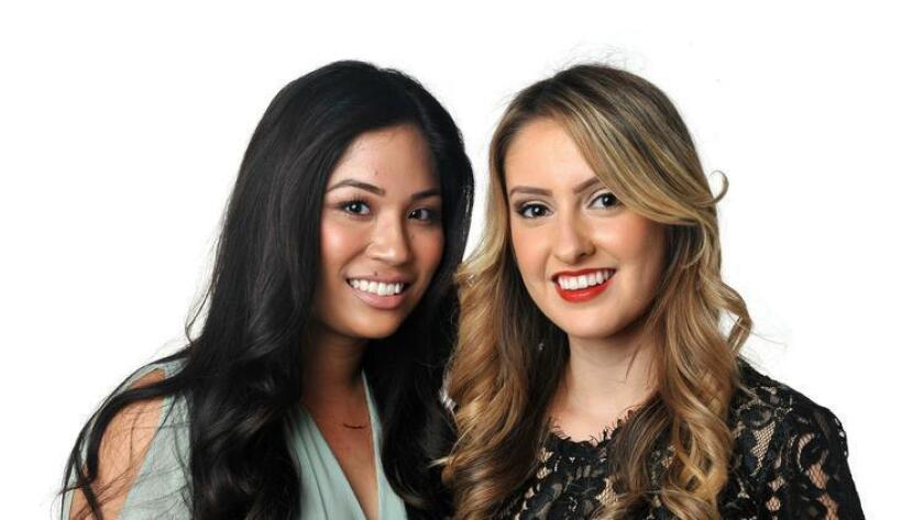 Jamie Reyes and Claudia Huizar partners at LuxuriaPR met while attending San Diego State. (For The San Diego Union-Tribune)