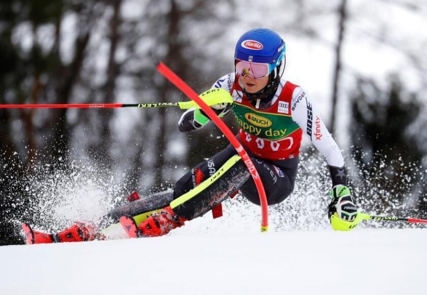 La estadounidense Mikaela Shiffrin en Maribor, Eslovenia. EFE/EPA