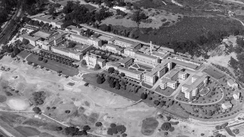 1938 -- Aerial view of the naval hospital in Balboa Park.