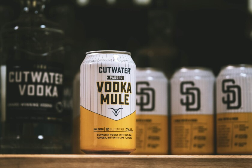 The new limited-edition Vodka Mule canned cocktail from Cutwater Spirits is an homage to the San Diego Padres.