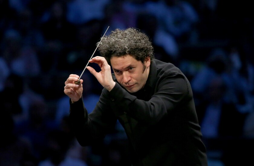 Gustavo Dudamel, music and artistic director of the Los Angeles Philharmonic