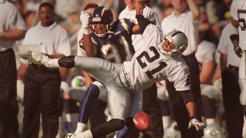 Point Loma High's Eric Allen (21) played 14 seasons in the NFL, finishing with 54 interceptions.