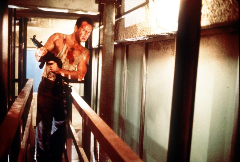 """Bruce Willis stars in the 1988 action thriller """"Die Hard."""""""