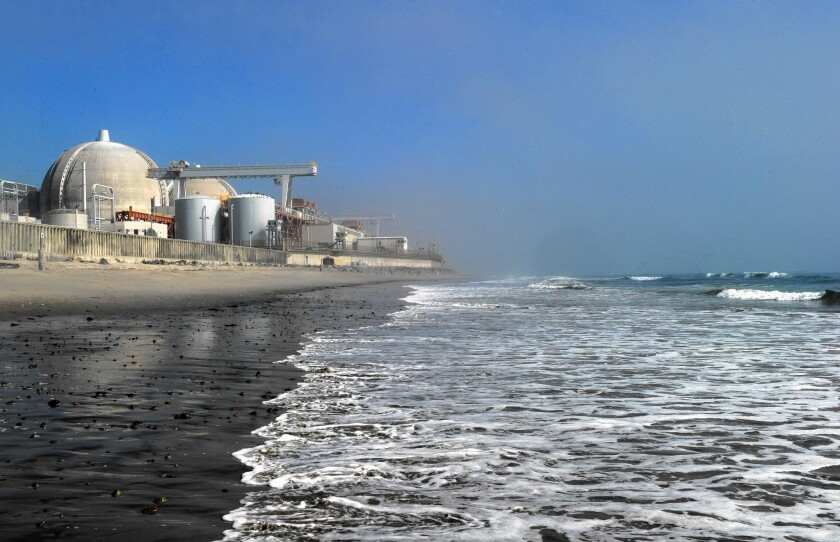 View of the San Onofre Nuclear Power Pla