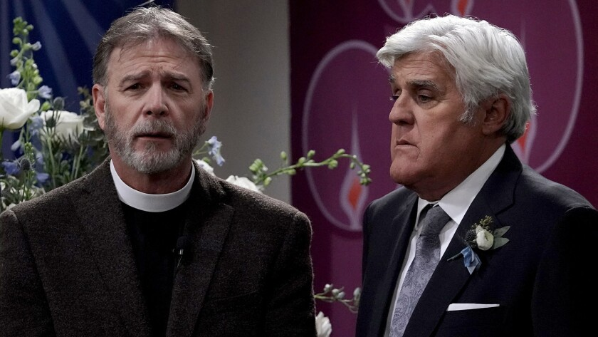 """Bill Engvall and Jay Leno in """"Last Man Standing"""" on Fox."""