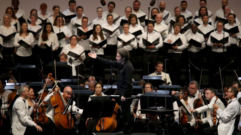 Gustavo Dudamel conducts a Wagner program with the Los Angeles Philharmonic and Master Chorale at th