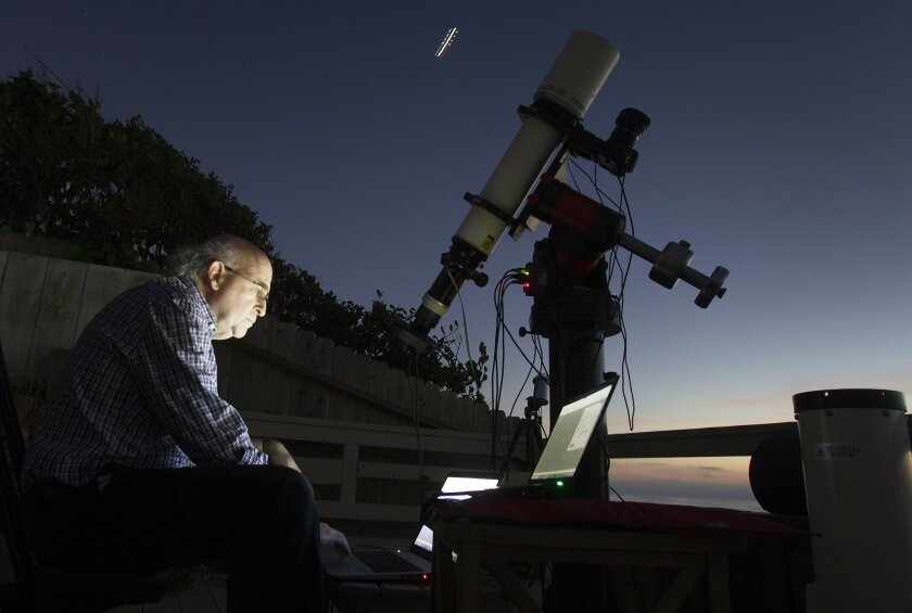 Dr. Paul Aisen at UC San Diego, a pre-eminent specialist on Alzheimer's who is leading the world's largest study about the disease. Aisen's hobby is astrophotography. Aisen is seen in his backyard setting up a shoot that he planned to do which will track his subject over hours for a long exposure t