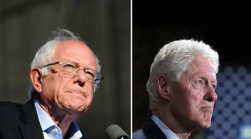 Bernie Sanders and Bill Clinton.