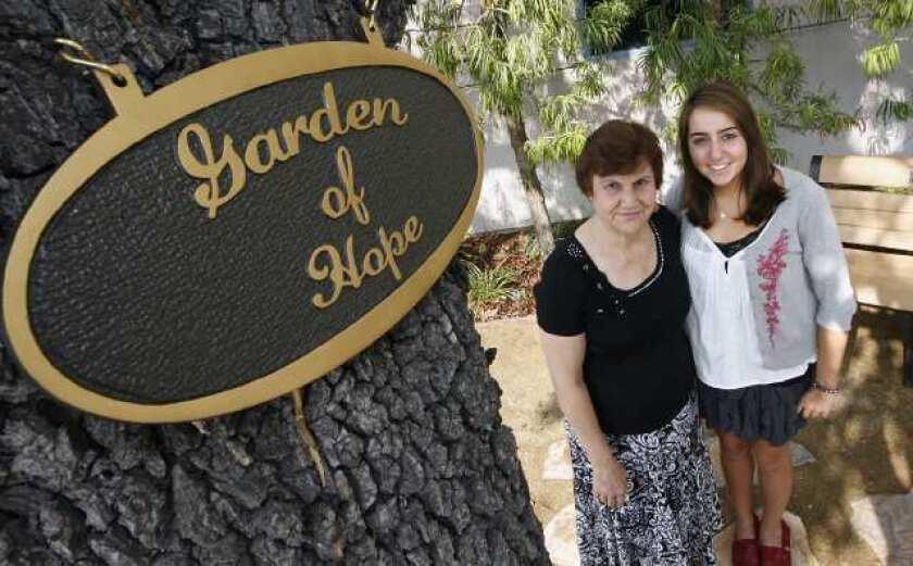 A cancer patient's secret garden - Los Angeles Times