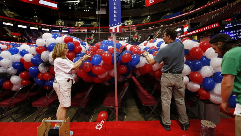 Getting ready for the Republican National Convention in Cleveland.