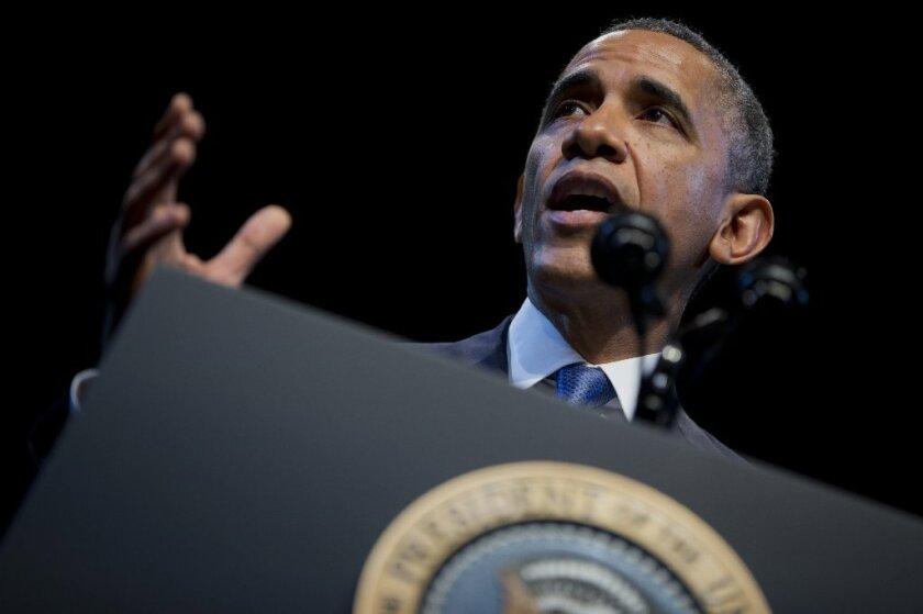 President Obama delivers his speech on economic inequality, Dec. 4.