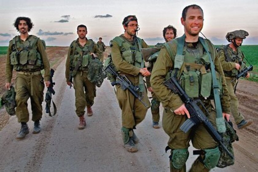 Israeli army reservists began to withdraw yesterday after taking part in the fighting in the Gaza Strip. (Getty Images)