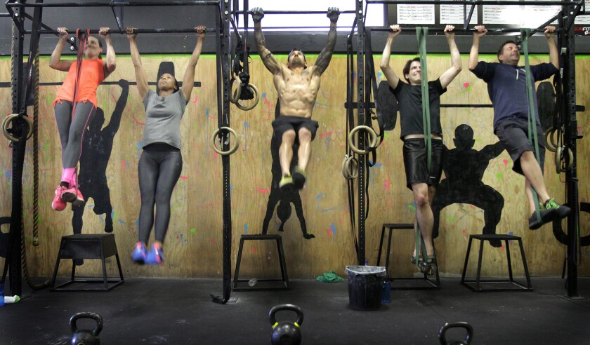 A CrossFit class in Los Angeles.