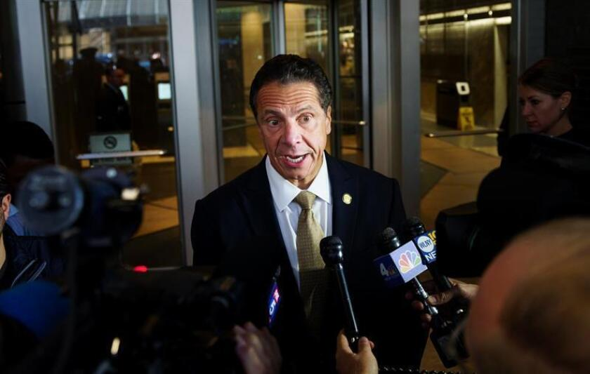 Fotografía del gobernador de Nueva York, Andrew Cuomo, hablando con la prensa en Nueva York, Nueva York, EE. UU. EFE/Epa/Archivo