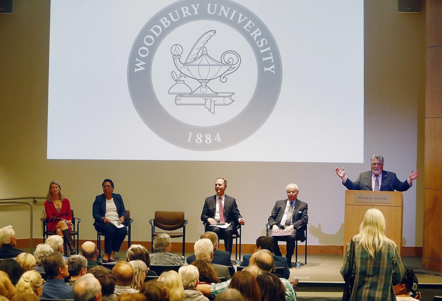 Photo Gallery: U.S. Senator Adam Schiff and California State Senator Anthony Portantino on gun violence panel at Woodbury University