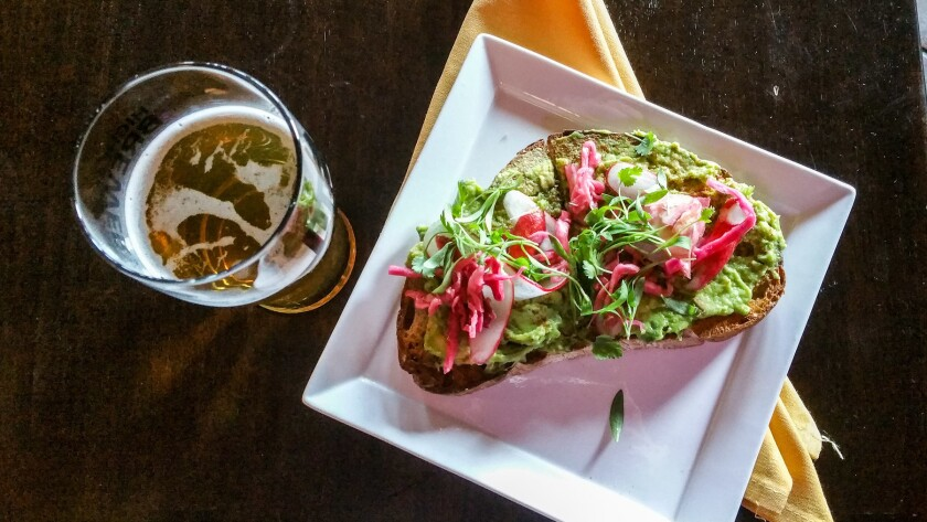 Certain craft beers pair nicely with avocado toast.