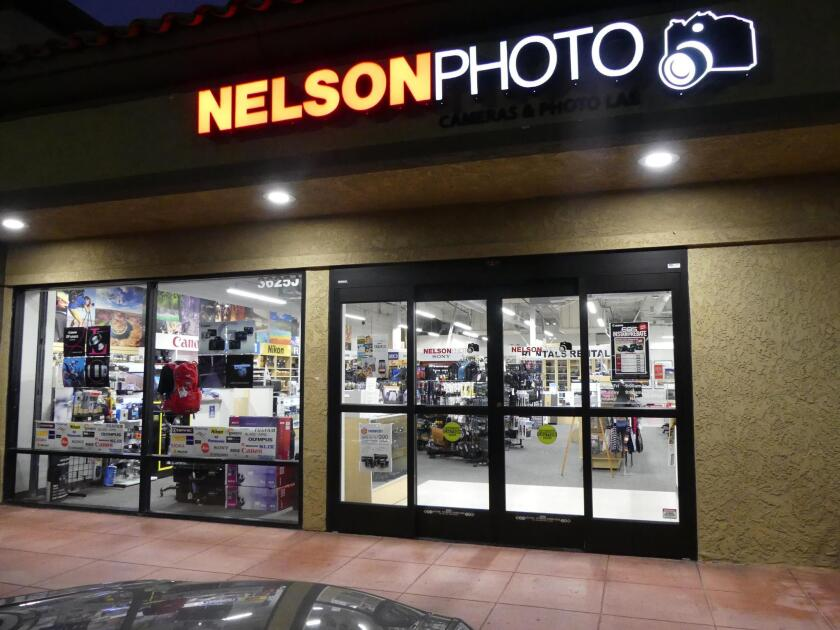 The Nelson Photo location may have changed a couple of times since its Little Italy heyday, but its services and products have not. Nelson Photo is currently located at 3625 Midway Drive, Suite J, San Diego. (619) 234-6621. nelsonphotosupplies.com