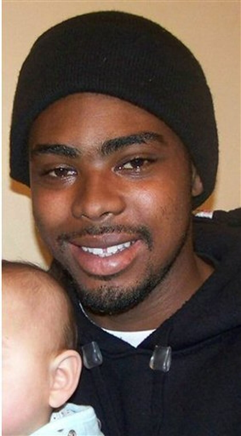 This undated family file photo provided by the Law Offices of John Burris shows Oscar Grant, a 22-year-old transit rider who was shot and killed by BART police on New Year's Day, 2009.   A Douglas County jail official confirmed that 27-year-old Johannes Mehserle, who was involved in the incident, w