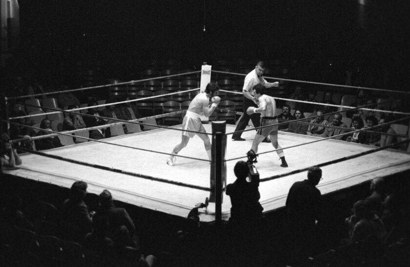 The Coliseum during one of the last bouts before the facility closed