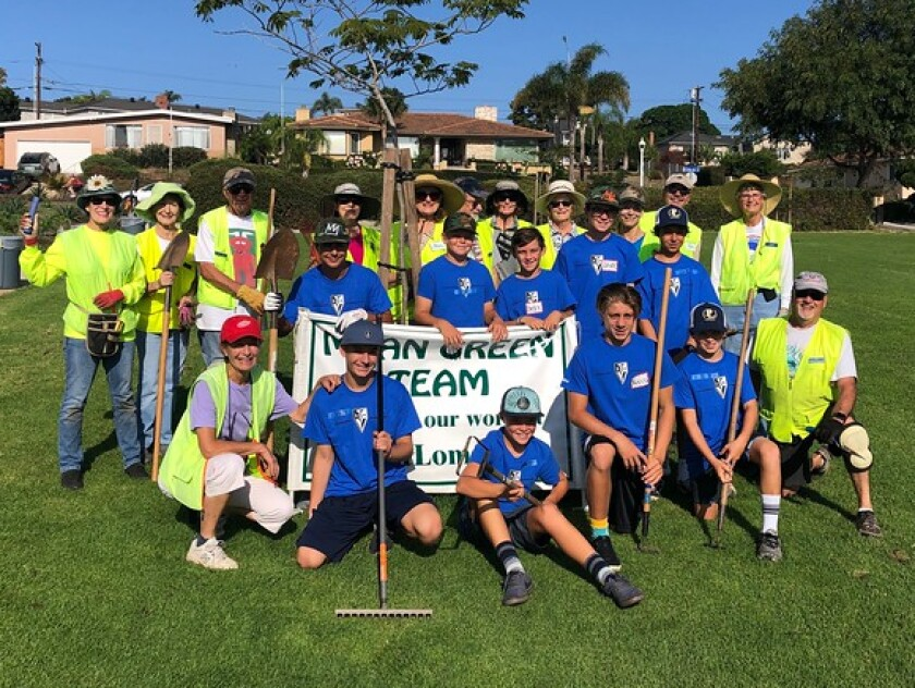 TVIA's Point Loma chapter teams up with the Point Loma Association's Mean Green Team to help beautify Point Loma.