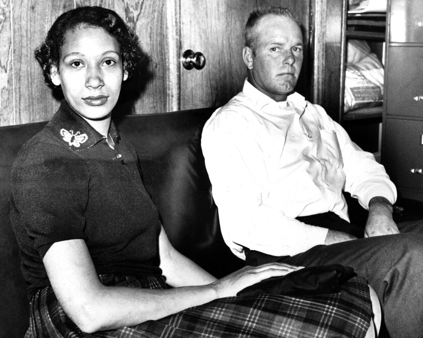 Mildred Loving and her husband Richard P Loving in 1965.