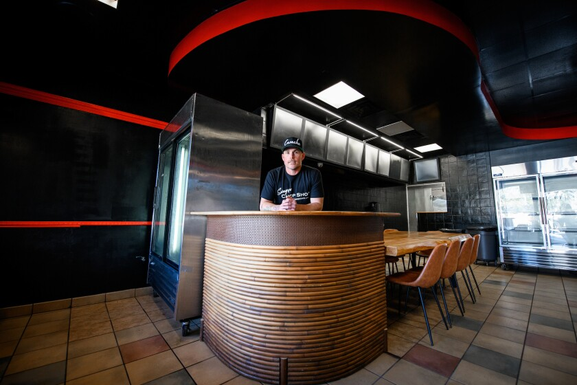 Chef Steve Brown inside his newly opened Swagyu Chop Shop in Poway.